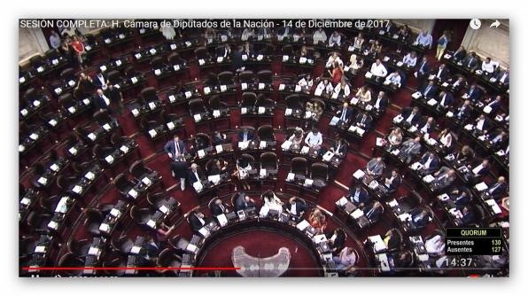 SESION DIPUTADOS-14.12.17 - 14.37 - DICEN 129, QUORUM